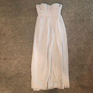 Light gray maxi dress